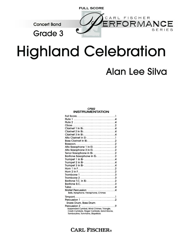 Highland Celebration by Alan Lee Silva| J.W. Pepper Sheet