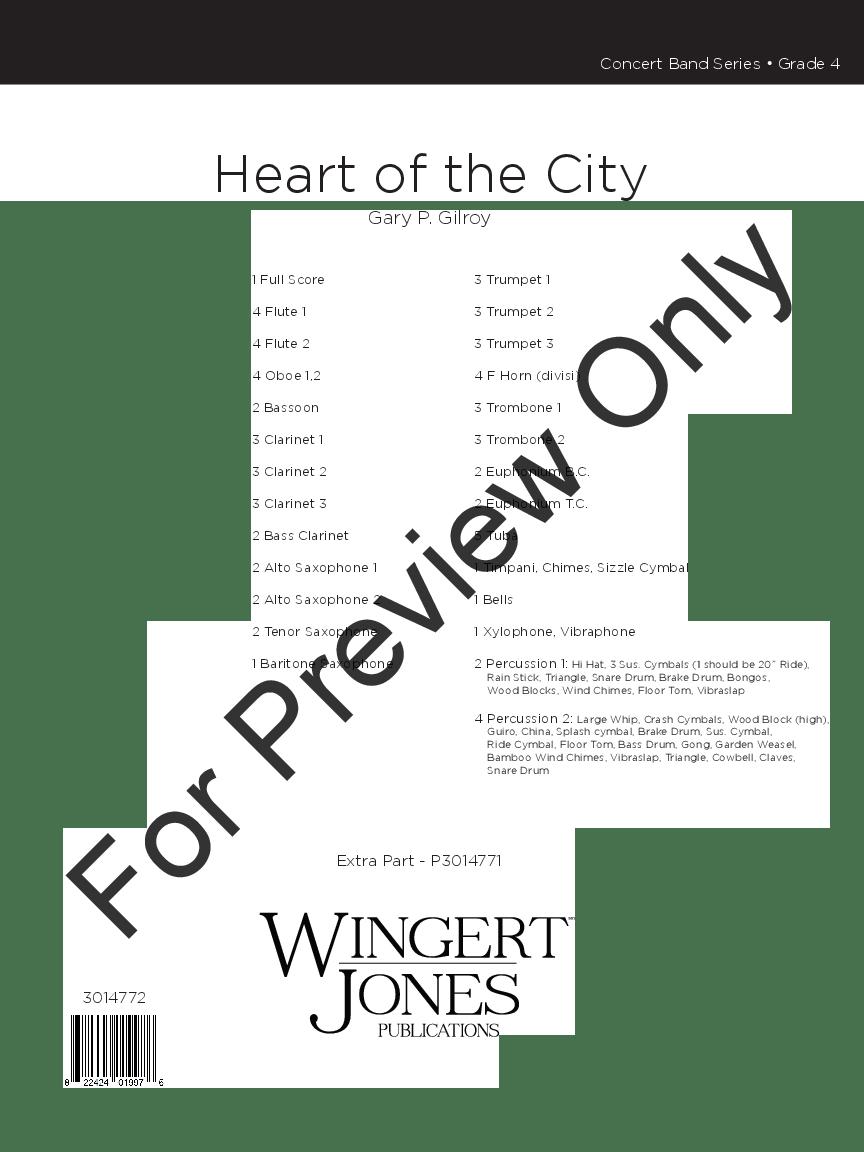 Heart of the City by Gary P. Gilroy  J.W. Pepper Sheet Music