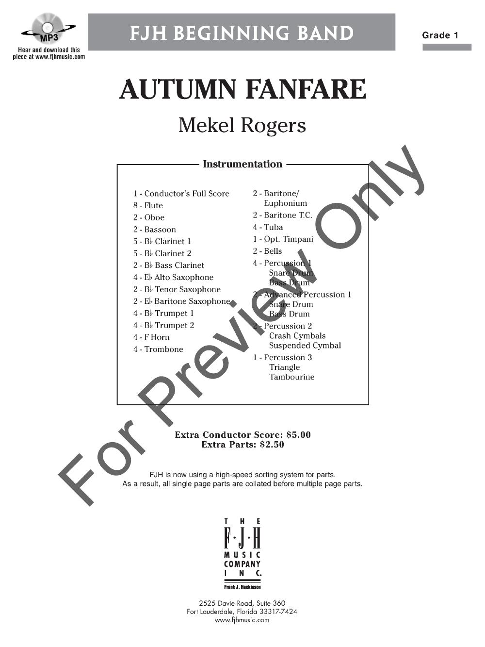 Autumn Fanfare by Mekel Rogers| J.W. Pepper Sheet Music