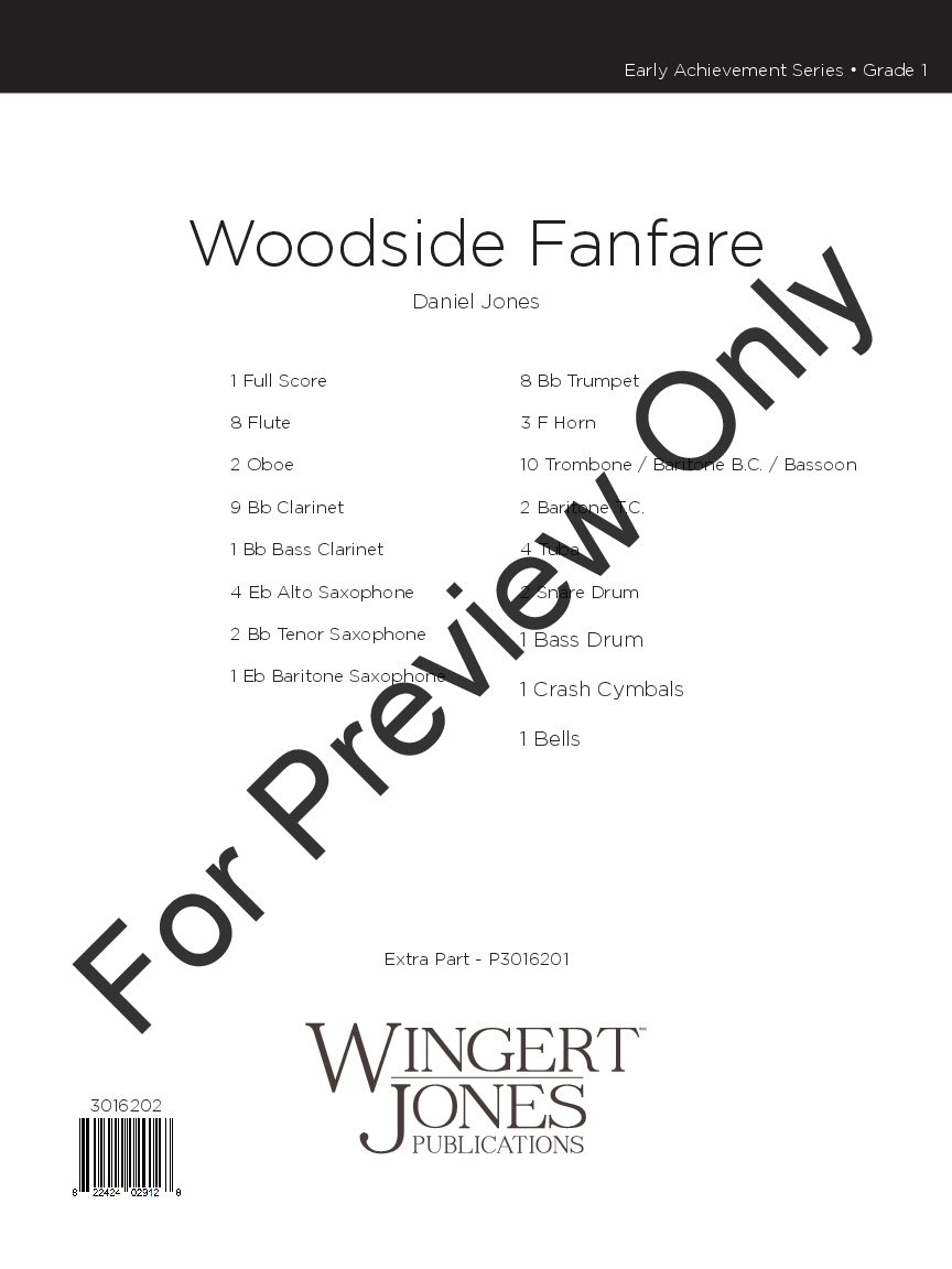 Woodside Fanfare by Daniel Jones| J.W. Pepper Sheet Music