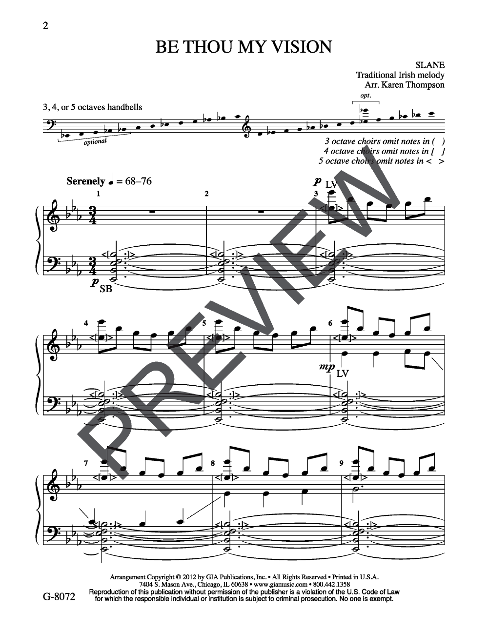 Be Thou My Vision arr. Karen Thompson| J.W. Pepper Sheet Music