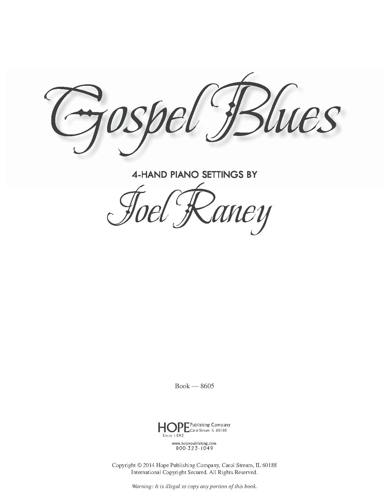Gospel Blues ( Piano) arr. Joel Raney  J.W. Pepper Sheet Music