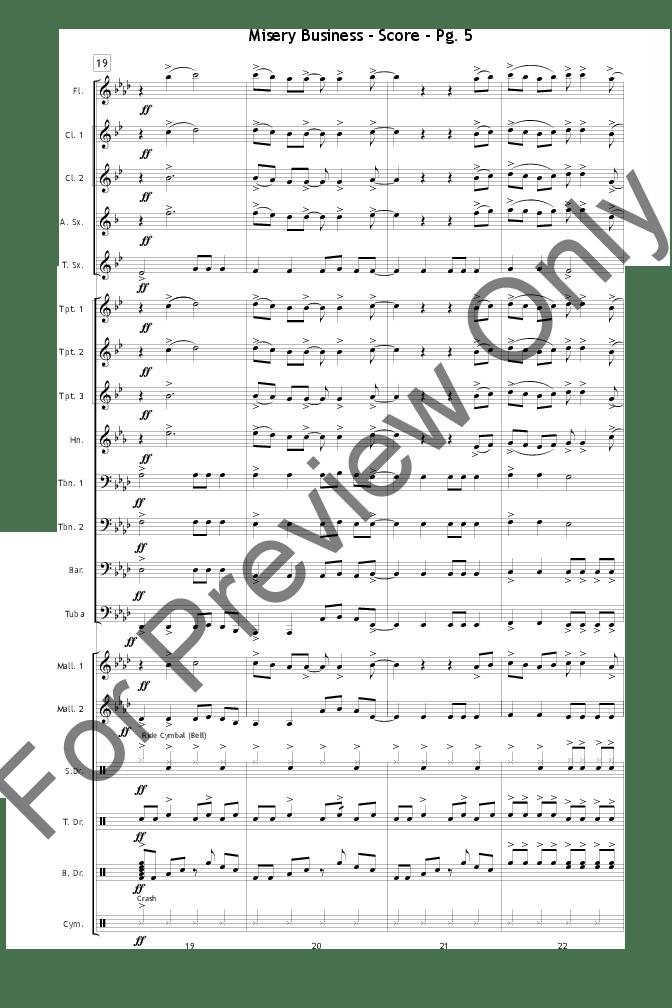 Misery Business arr. Dave Henning| J.W. Pepper Sheet Music