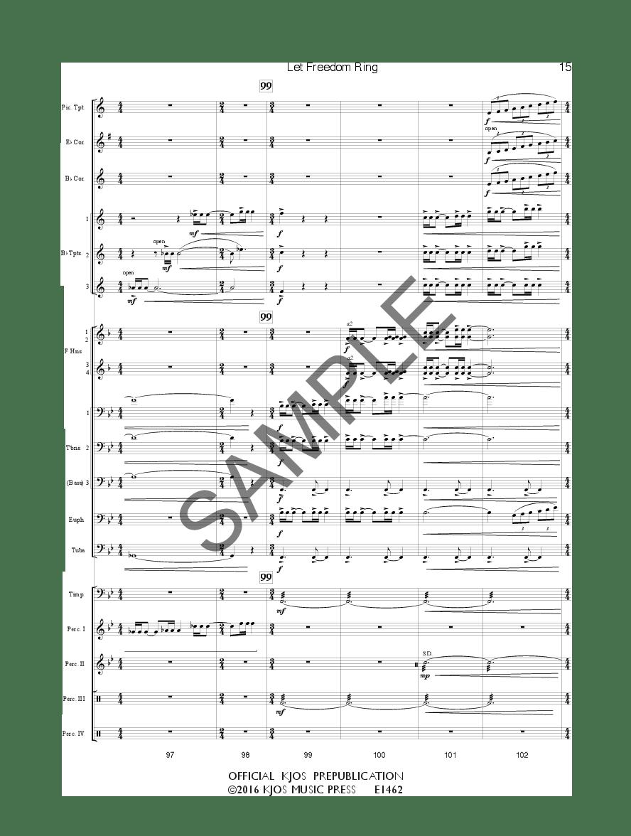 Let Freedom Ring by Ryan Nowlin| J.W. Pepper Sheet Music