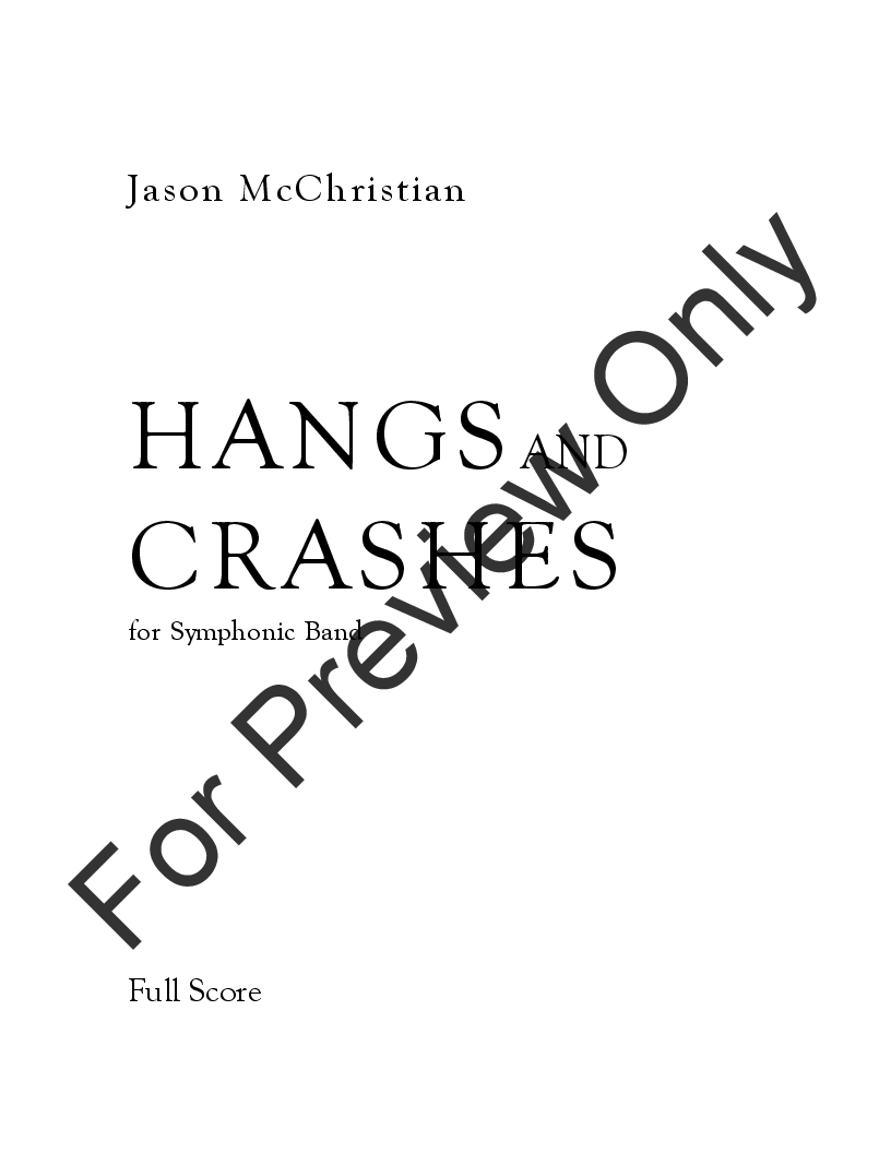 Hangs and Crashes by Jason McChristian| J.W. Pepper Sheet