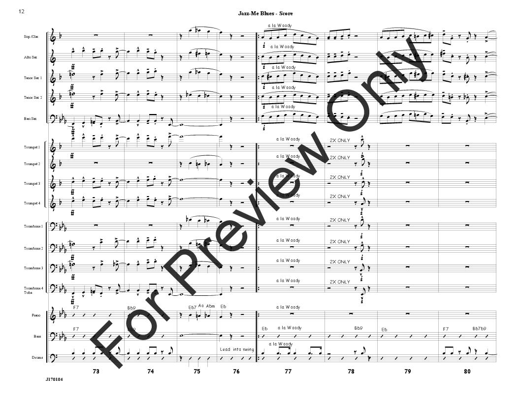 Jazz Me Blues arr. Jim Mahaffey  J.W. Pepper Sheet Music