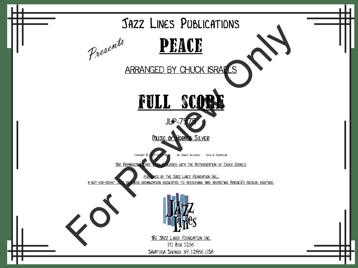 Peace by Horace Silver/arr. Chuck Israels| J.W. Pepper