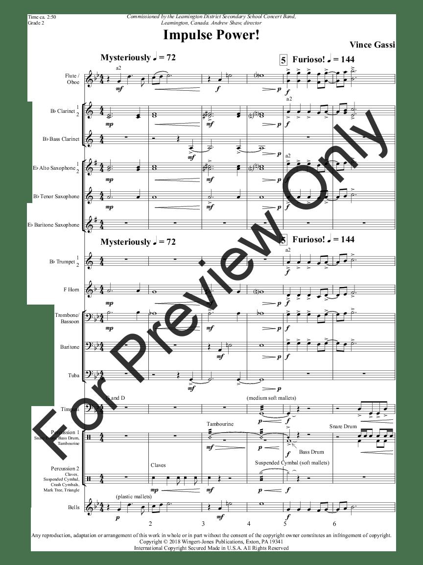 Impulse Power! by Vince Gassi| J.W. Pepper Sheet Music