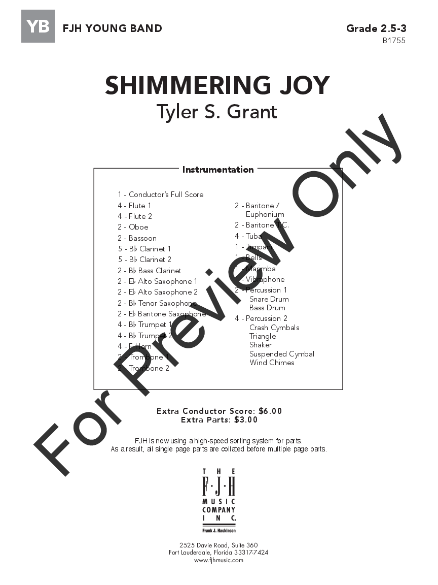 Shimmering Joy by Tyler S. Grant| J.W. Pepper Sheet Music