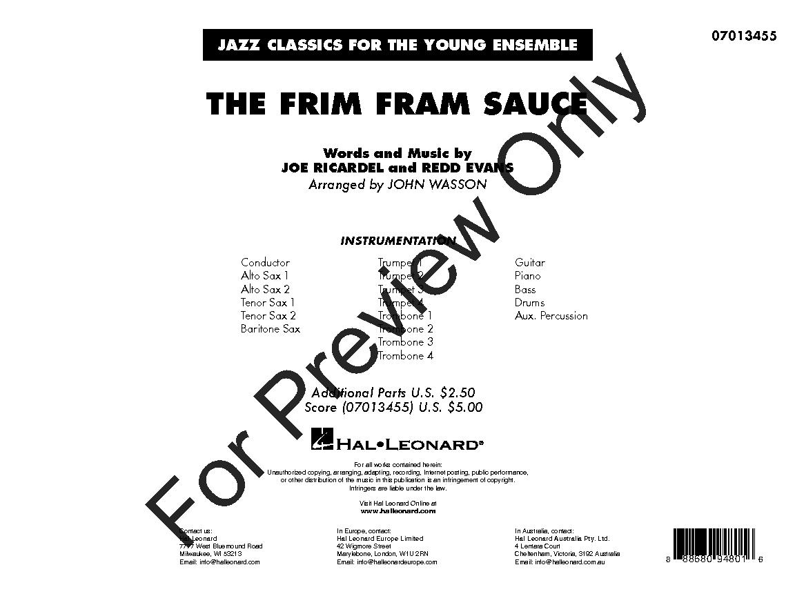 The Frim Fram Sauce arr. John Wasson| J.W. Pepper Sheet Music