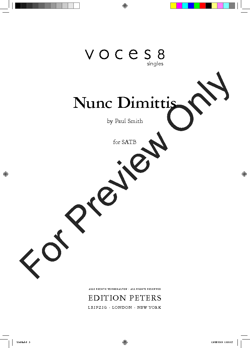 Nunc Dimittis (SATB ) by Paul Smith  J.W. Pepper Sheet Music