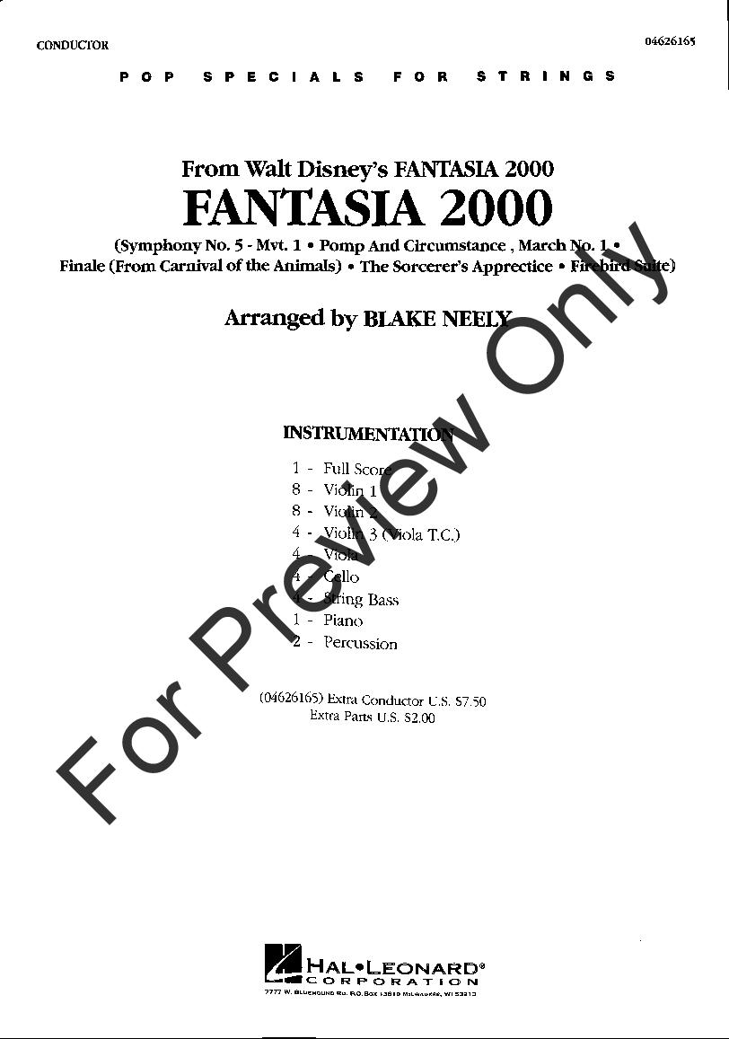 Fantasia 2000 by Various/arr. Blake Neely| J.W. Pepper