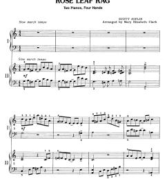 rose leaf rag 2 piano 4 hands thumbnail [ 1000 x 1428 Pixel ]