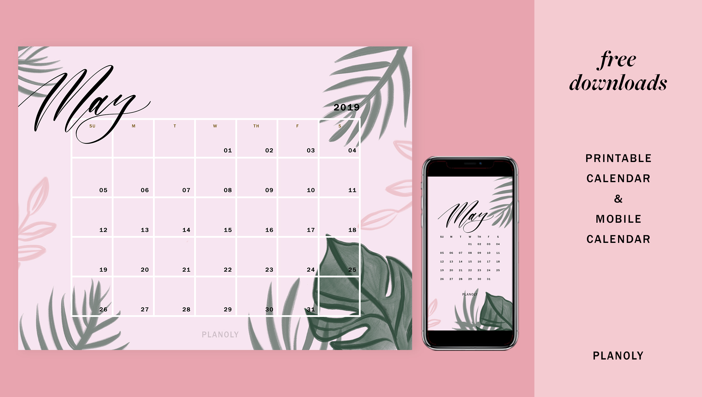 Calendrier 2019 Free.2019 Free Printable Monthly Calendar Variety Puzzles