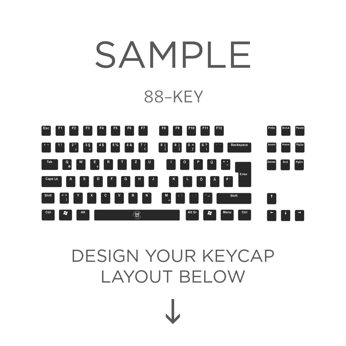 88 key piano keyboard diagram pourbaix copper max iso layout custom backlight cherry mx keycap set top