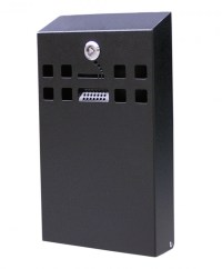 BDW05 Slimline Wall Mounted Cigarette Bin (Black) from