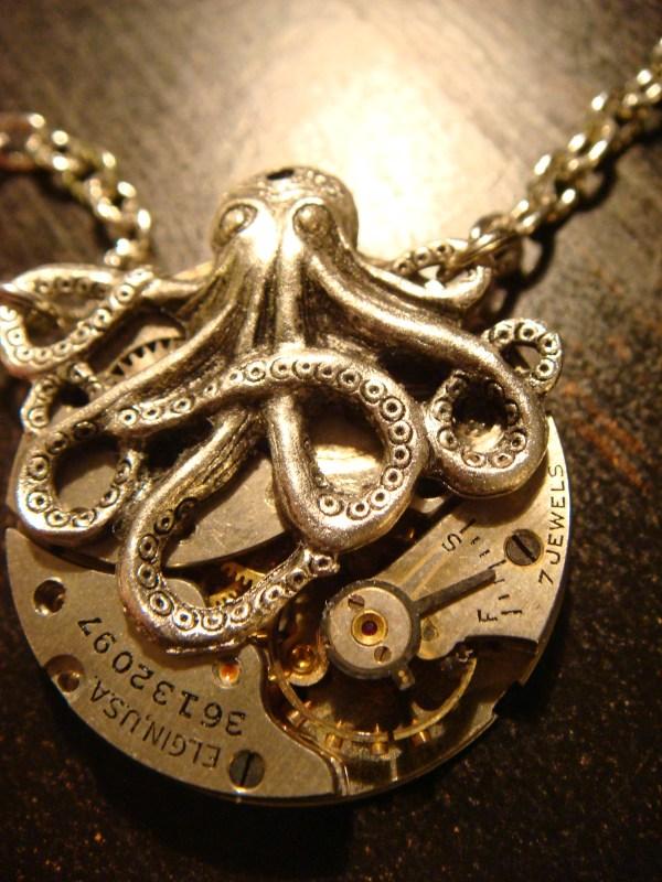 Necklace Steampunk Octopus
