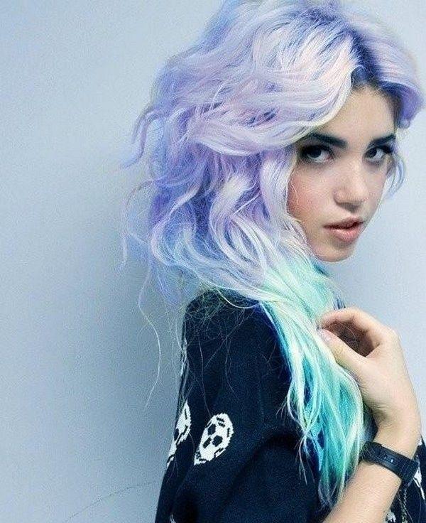 rock summer pastel hair