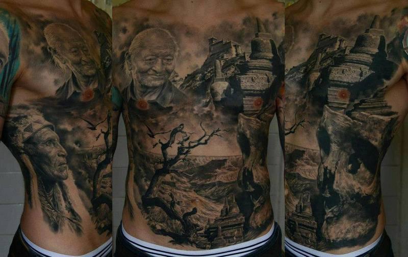 Old English Tattoos Men