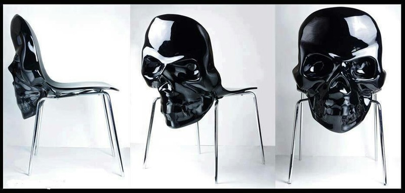 skull chair wooden patio chairs 15 badass of all time black silver stands