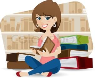 Illustration of cartoon cute girl Stock vector Colourbox