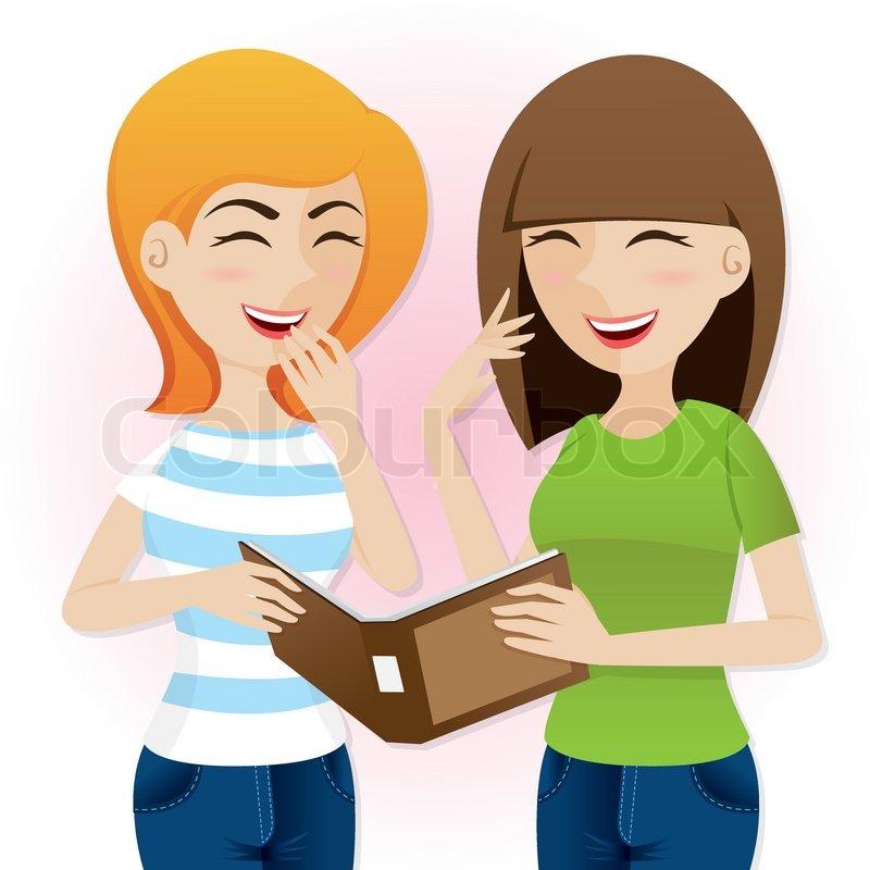 Illustration Of Cartoon Teenage Girls Stock Vector