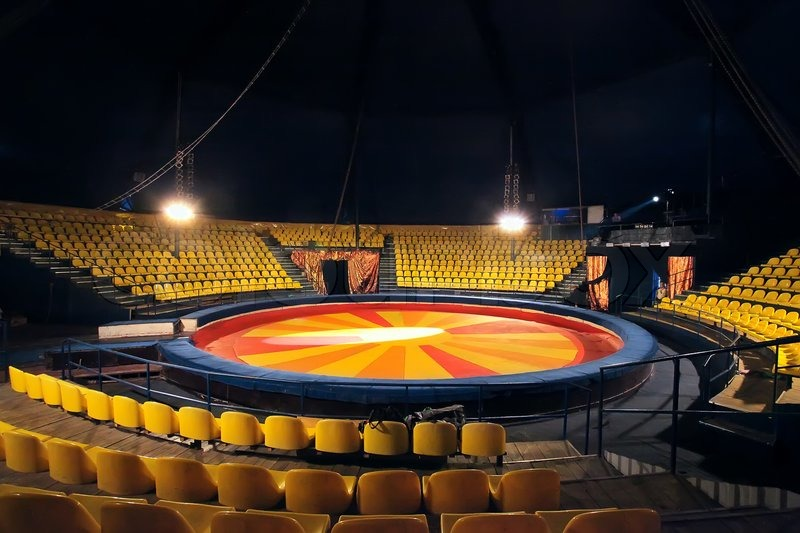 The arena and chairs for visitors in   Stock Photo