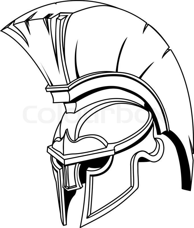 An illustration of Spartan roman greek trojan or gladiator
