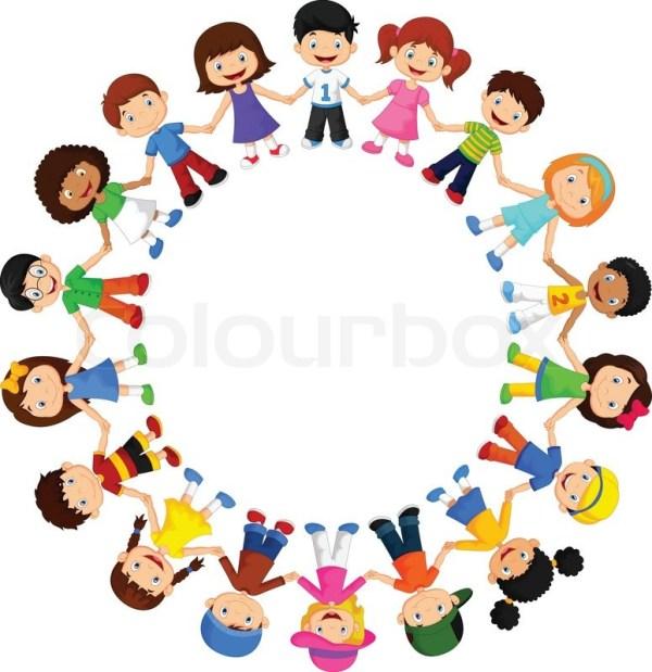 vector illustration of circle happy