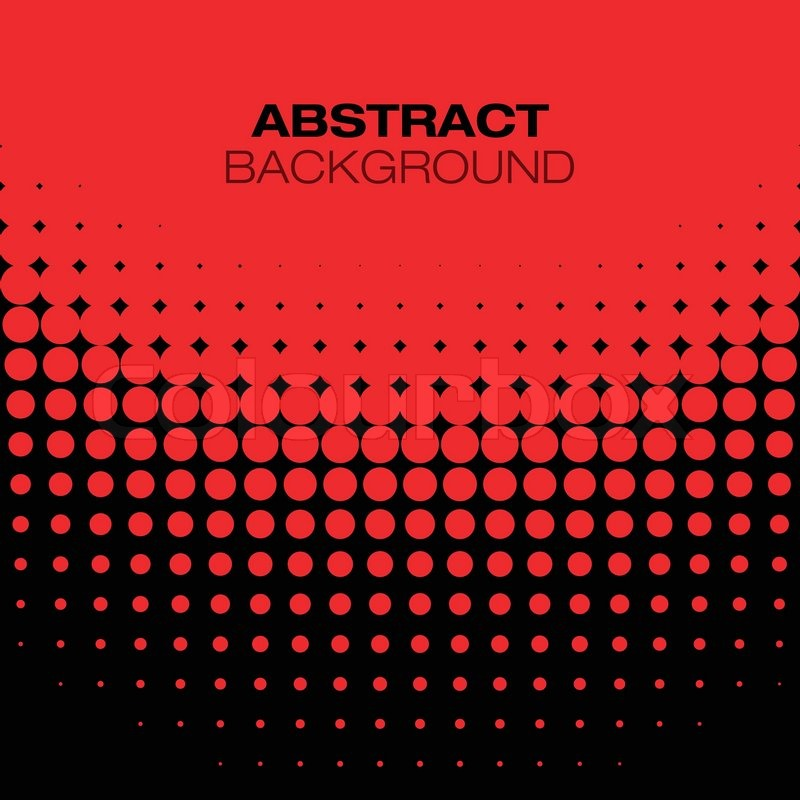 abstract black red halftone