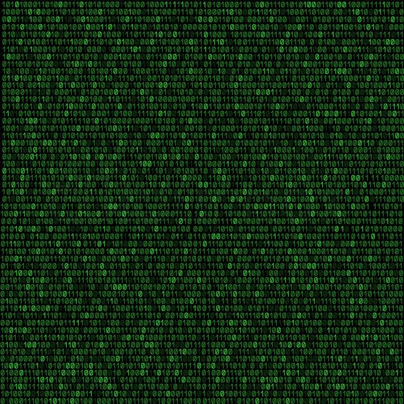 Binary Code Wallpaper Hd The Green Code Made Programming Dark Stock Vector