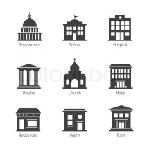 Government Building Drawing Simple