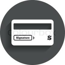 Credit Card Sign Icon. Debit . Stock Vector