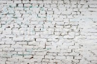 White brick wall pattern. old brick painted with white ...