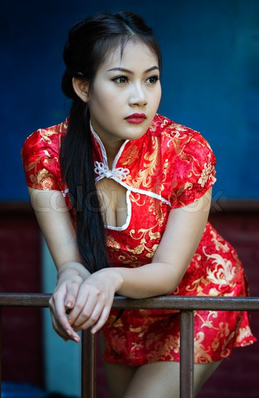 chinese girl in traditional