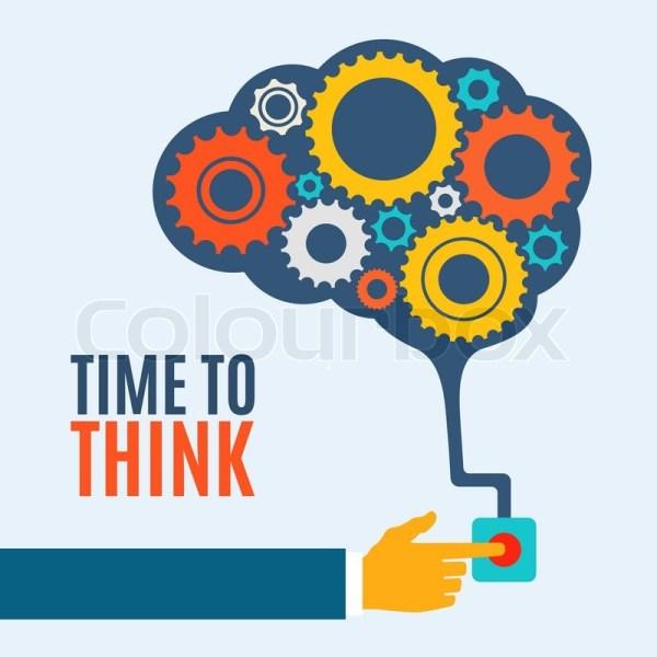 Time Creative Brain Idea . Stock Vector