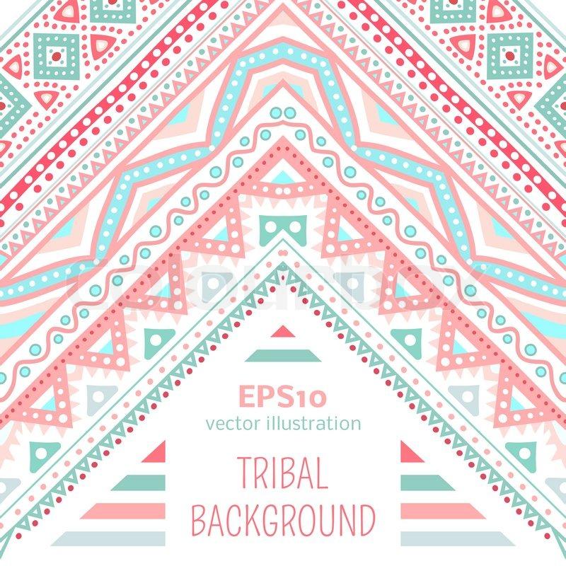 Sweet Indian Baby Girl Wallpaper Tribal Ethnic Corner Pattern Vector Illustration For Your