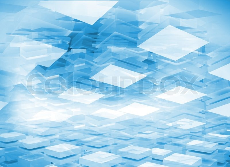3d Wallpaper Low Bright Abstract 3d Digital Background With Light Blue Boxes