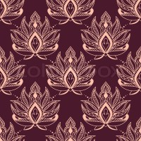Burgundy and pink damask style floral seamless background ...