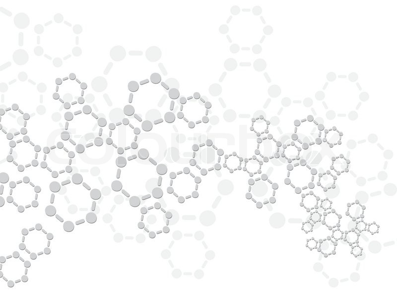 Abstract Molecules Medical Background Vector Stock Image