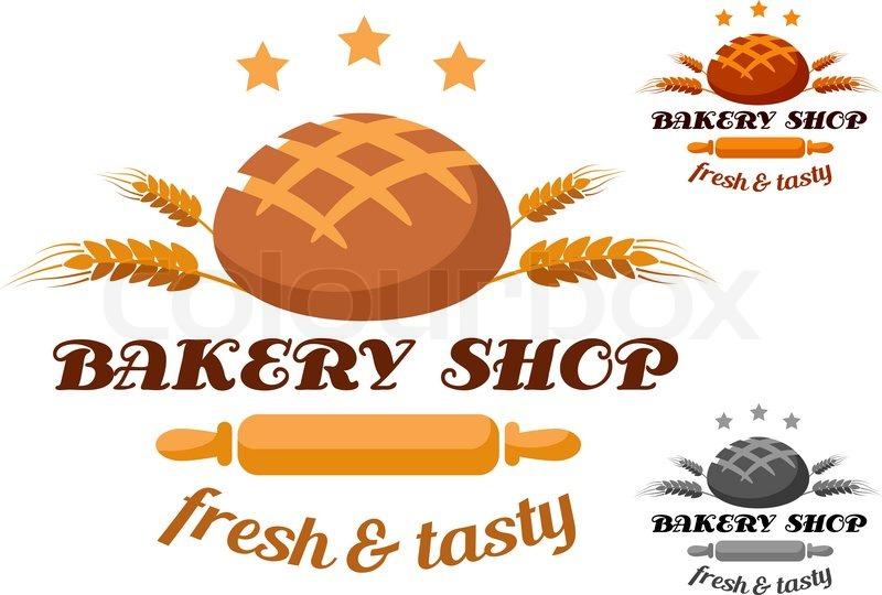 Bakery Shop Label Or Logo Showing A Stock Vector Colourbox