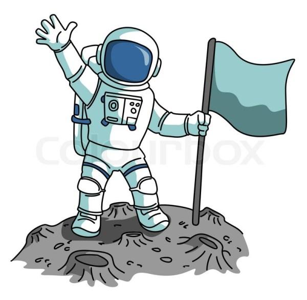 astronaut stock vector colourbox