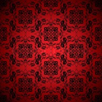 Bright blood red wallpaper with seamless repeating design ...
