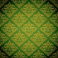 Green and gold background with a seamless repeat design ...