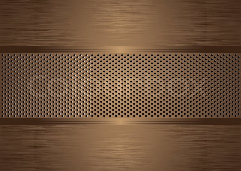 Black And Gold Textured Wallpaper Bronze Abstract Brushed Metal Background Wit Holes Punched