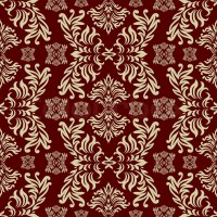 Maroon seamless repeat design with a floral themed ...