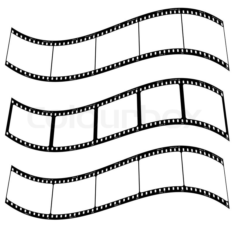 Three blank film strips with room to addd your own copy