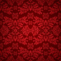 Red and maroon floral background with a seamless repeat ...