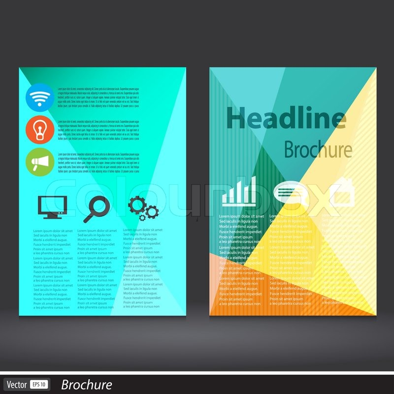 Abstract Triangle Brochure Vector Flyer Design Template A4 Size