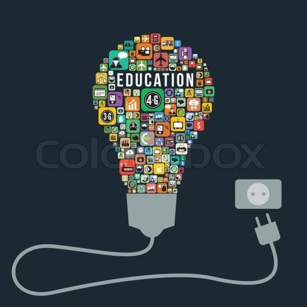 Education Concept Design Icons . Stock Vector